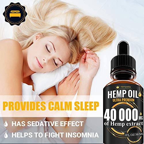51hxPFj4KdL - Hemp Oil Drops 40 000 mg, Co2 Extracted, Made in USA, Help Reduce Stress, Anxiety and Pain, 100% Natural Ingredients, Vegan Friendly, GMO Free