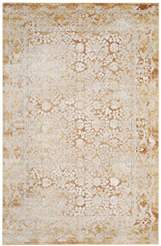 Safavieh Palermo Collection PLM850G Gold and Beige Area Rug, 5'1″ x 7'6″ For Sale