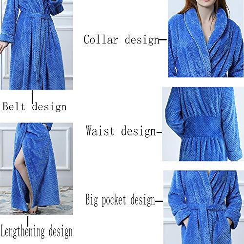 Para Informales Largos De Albornoz Bata Milkywhite Franela Mujer 1pcs Pijamas Baño 4ddq7Pn