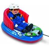 """Aqua Leisure Winter Inflatable Kiddie Character Tow and Pull Snow Tube Sled with Repair Kit and Sturdy / Durable Wrap Backrest for Child, Safe and Comfortable ride, 36"""""""