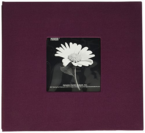 Pioneer Book Cloth Cover Post Bound Album, 8 by 8-Inch, Sweet Plum