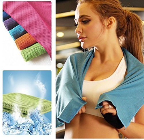 ANGELS--Fitness Dry Cooling Sports Towel For Gym Best Workout face Iced Sweat Towels