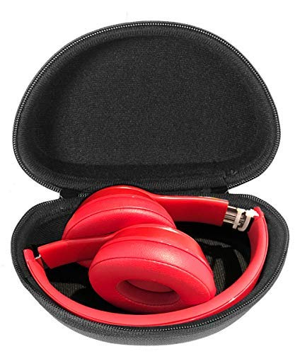 CaseSack Protective Case for Solo 3 Wireless On-Ear Headphones, Also for Solo2 Wired and Solo HD Wired, Best Matching in Shape and Color, Detachable Wrist Strap (Black) (not fit for iFetta)
