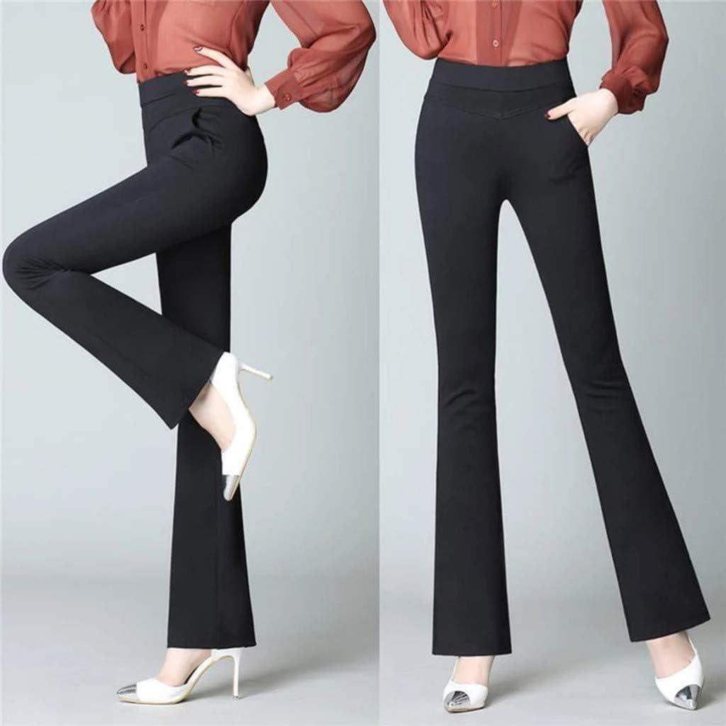 Routinfly Damen Loose Pant Freizeit Hose Legging,L/ässige Jeans mit hoher Taillenelastizit/ät weitem Bein Pants Jeans Trousers