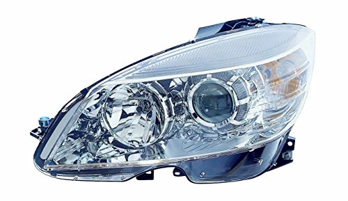 Drivers Mercedes (Depo 340-1130L-AFN Head Lamp Assembly (Mercedes Benz C Class Fm 2/9/08-11 Halogen Chrome Driver Side Nsf))