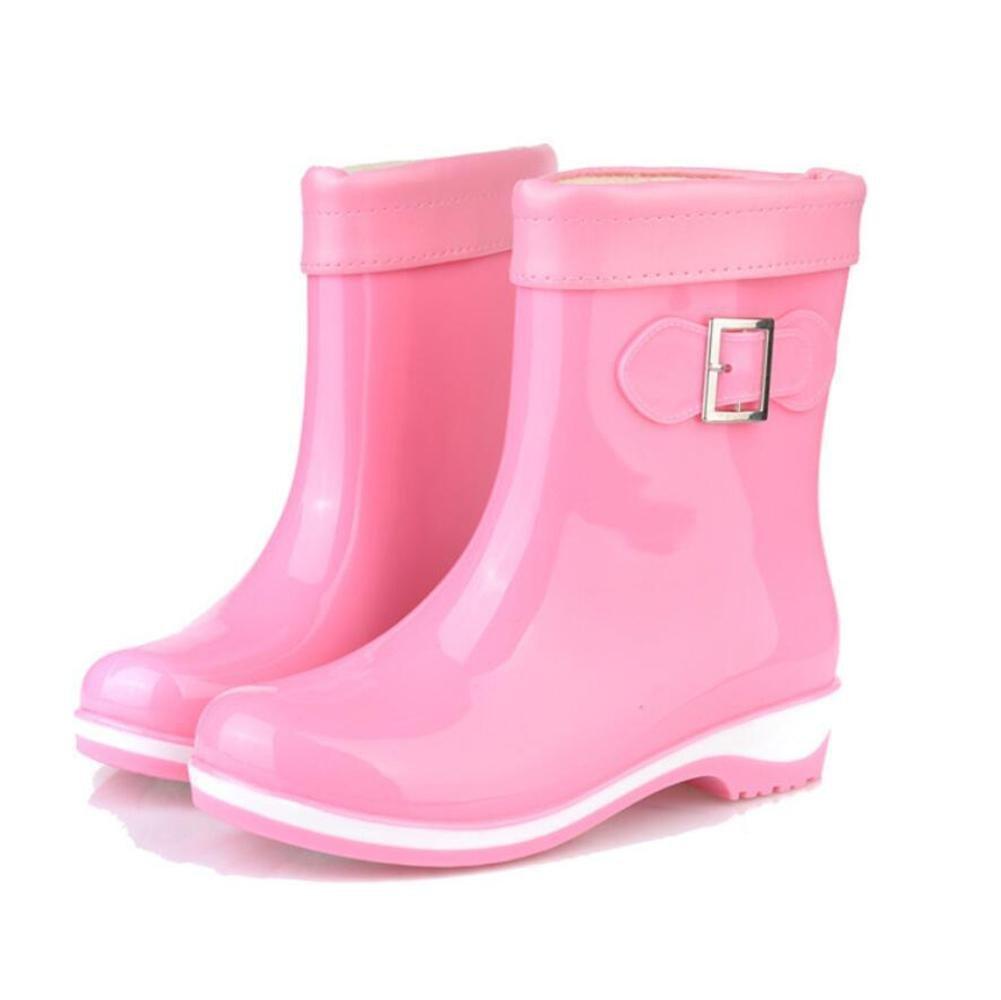 SIHUINIANHUA Süßigkeit Farbige Regenstiefel Rutschfeste Regenstiefel Damenmode Freizeitschuhe Flache Wasserstiefel 6 39