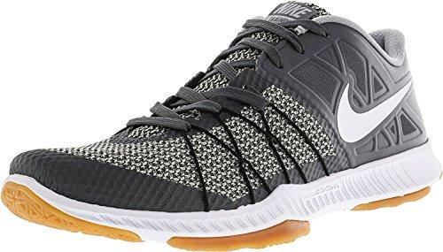Nike Mens Zoom Train Scarpa Da Allenamento Incredibilmente Veloce Grigio Scuro / Bianco / Arancio