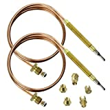 Spares2go Universal Thermocouple Kit & Fixings (1200mm, Pack Of 2)