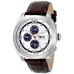 Tommy Hilfiger Men's 1790968 Sport Luxury Multi-Eye Stainless Steel Case Blue Accents Watch