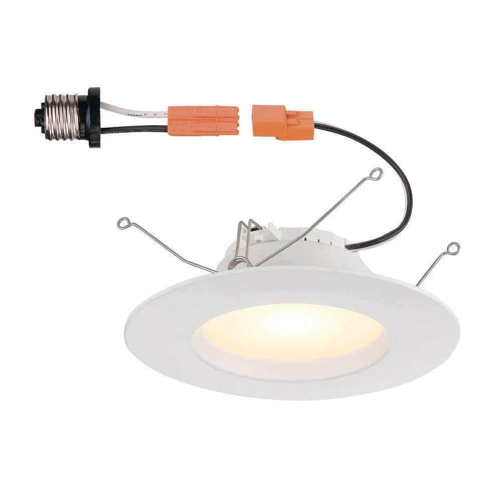 業務用電気 (4個パック) 5インチ 6インチ ホワイト 統合 LED 凹型トリム B07JQ2QQ2Q