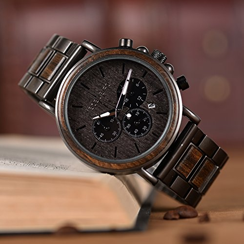 Engraved Wooden Watch for Boyfriend My Man Fiancé Husband Customized Personalized Wood Watches for Men Birthday… 2