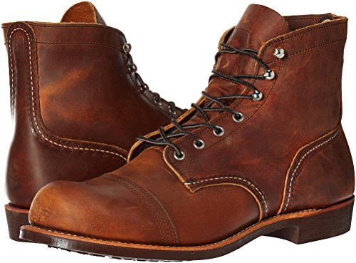 Image of the Red Wing Heritage Men's Iron Ranger Work Boot, Copper Rough and Tough, 11 D US
