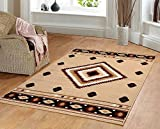 Tribal Rug Furnish my Place Southwest Southwestern Modern Area Rug, Rustic Lodge Burber 640