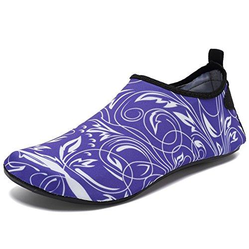 CIOR Männer Frauen und Kinder Barfuß Haut Schuhe Rutschfeste Wasser Schuhe Für Strand Pool Surf Yoga Übung H.purple02