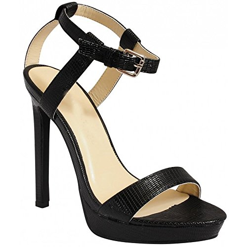 Ankle There Strap High Strappy Peep Ladies 8 Toes Cuff Womens Barely Black Heels Sandals 3 Stilettos C0xqxtUnwa