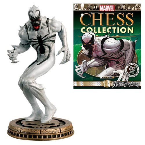 Spider-Man Marvel Amazing Anti-Venom Black Pawn Chess Piece with Collector Magazine #95 ()