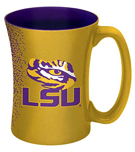 NCAA LSU Tigers Mocha Mug, 14-ounce, Yellow - Lsu Tigers Coffee Mug