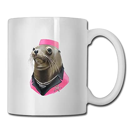 Sea Lion Air Hostess Special Coffee Tea MugBirthday Gift For MenWomenMom