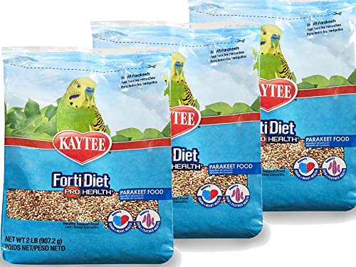 Kaytee. Forti-Diet Pro Health Parakeet Food, 2 lb (2 lb (Pack of 3), Original Version)