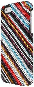 Empire Mpero - Carcasa para iPhone 5, diseño de rayas con diamantes, multicolor