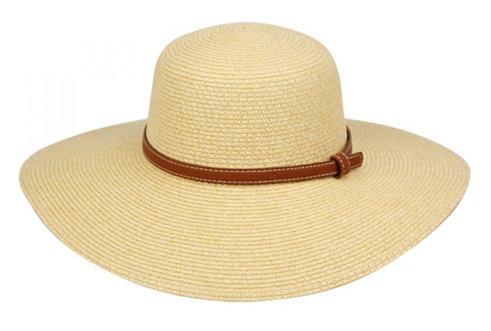 cbe9cf58912 Accessories Epoch hats Womens Braid Straw Wide Brim Fedora Hat UPF 50+  w Adjustable Drawstring Brown