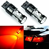 jdm mazda logo - JDM ASTAR Extremely Bright Max 50W High Power 7440 7441 7443 7444 992 LED Bulbs ,Brilliant Red ( Only work for standard socket , not for ck socket)
