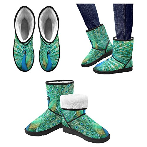 Unique Designed 20 Boots Womens Winter Comfort Boots Multi InterestPrint Snow 7HPgx