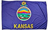 Annin Flagmakers Model 141880 Kansas State Flag Nylon SolarGuard NYL-Glo, 5×8 ft, 100% Made in USA to Official Design Specifications For Sale