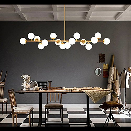 Fandian Post-Modern Ceiling Light LED Chandelier Pendant Lamp, DNA Shaped with G4 LED Kits Bright Gold