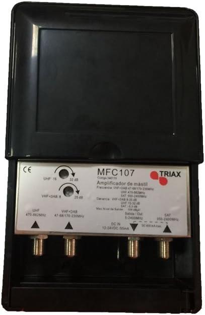 Triax Amplificador Mástil 3e (BIII/UHF/FI) MFC108