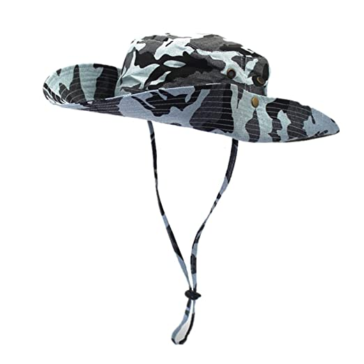 69de7a132fa49c Amazon.com: Home Prefer Men's UPF50+ Fishing Sun Hat Snap Wide Brim Bucket  Hat with String (Mint): Clothing
