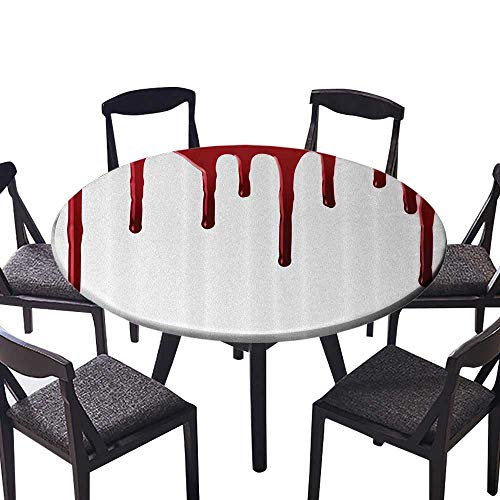 Round Fitted Tablecloth Flowing Blood Horror Spooky Halloween
