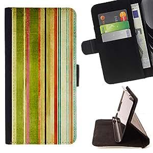- ART STRIPES RAINBOW WATERCOLOR PAINTING - - Prima caja de la PU billetera de cuero con ranuras para tarjetas, efectivo desmontable correa para l Funny HouseFOR Samsung Galaxy Note 4 IV