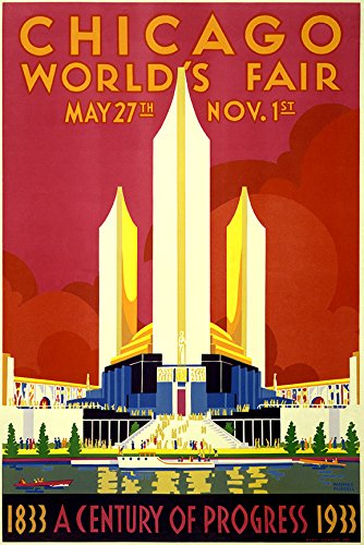 Digital Fusion Prints Historic 1933 Chicago World's Fair Poster - A Century Of Progress 24