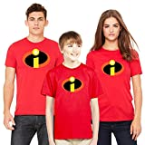 Custom Apparel R Us The Incredibles Super Hero Family Womens Short Sleeve T Shirt Red Medium