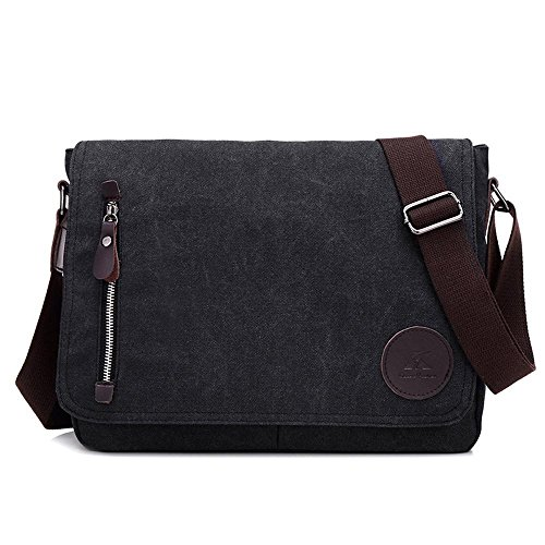 Aoligei Porte-documents unique épaule sac à dos de business lounge oblique toile sac hommes B