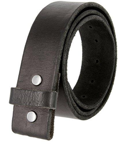 Belts.com BS001 Vintage Genuine Leather Belt Strap Without Slot Hole 1.5