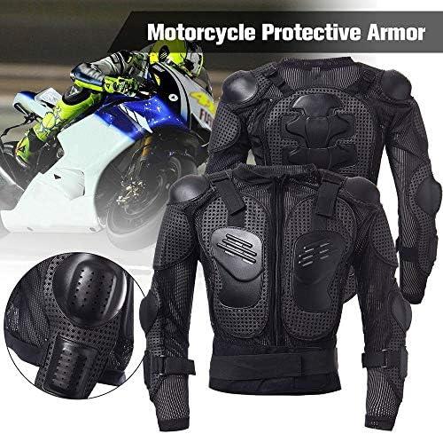 KKmoon Giacca di Protezione per Moto PRO Motocross ATV Giacca di Protezione con paraschiena Scooter MTB Enduro per Uomo e Donna Nero M