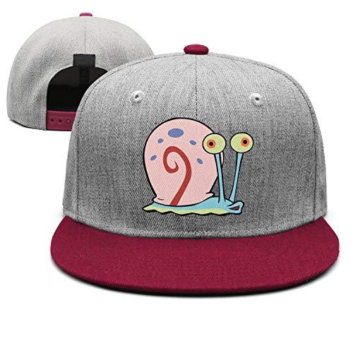 Man Spongebob-Squarepants-Snail- Snapback hat Trucker Hats Sports