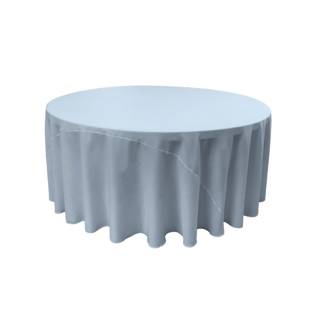 By ADD&SHIP Round Polyester Tablecloth 120 inches (Steel Blue)