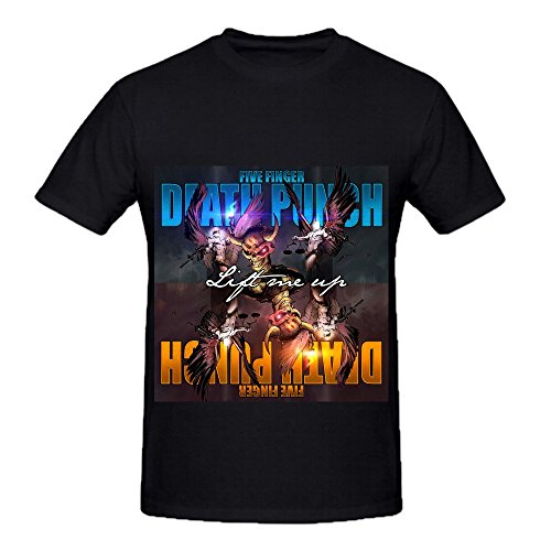 Five Finger Death Punch Lift Me Up Mens Crew Neck Customized Shirts Black