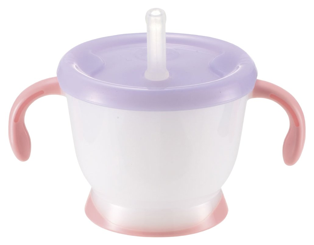 Richell Aqulea straw mug Pink 190ml