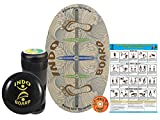 "INDO BOARD Original Training Package Balance Board– Includes 30"" X 18"" Deck, 6.5"" Roller and 14"" IndoFLO Cushion - Barefoot Design"