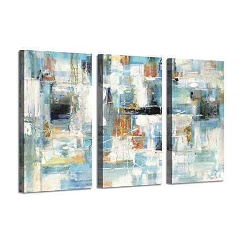 - Cityscape Abstract Artwork Street Picture: Paris View Gold Foil Painting Print on Canvas