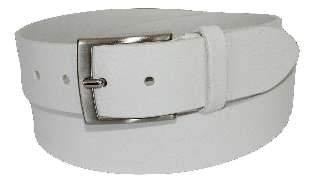 Bianca Artigianale ca Vera Pelle Unisex 4cm Accorciabile ITALOITALY Cintura in Cuoio Made in Italy