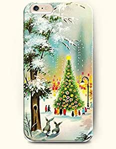 For Iphone 6Plus 5.5Inch Case Cover case - Merry Christmas Xmas Tree With Happy Crowd