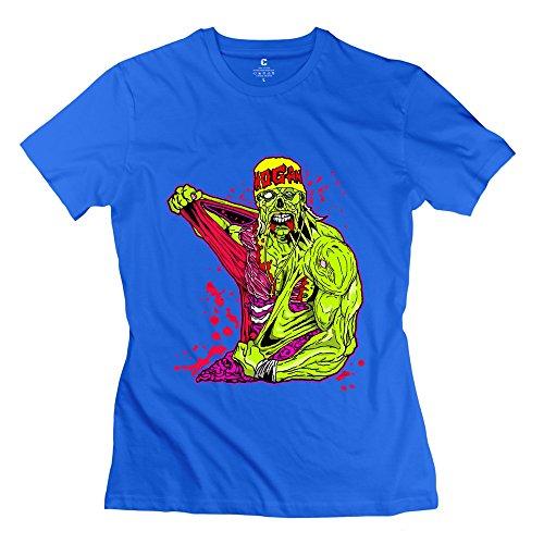 PCY Women's Create My Own Hulk Hogan Power Muscle T Shirt XL RoyalBlue
