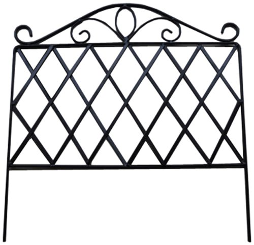Pangaea Home and Garden Garden Fencing Edging, Diamond (Flower Frame Picket Fence)