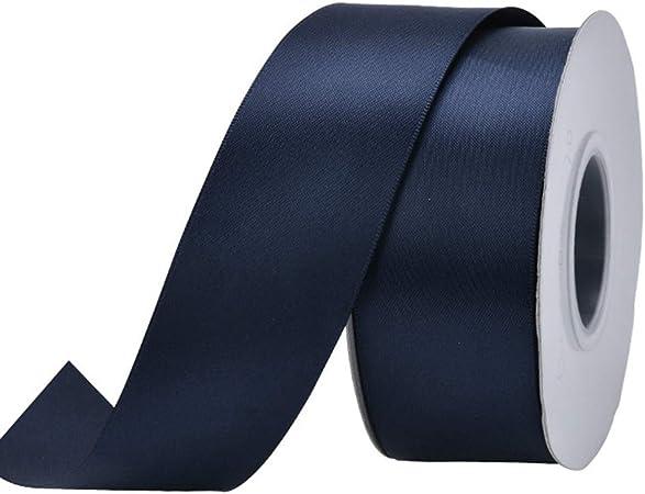 3//8,1,2 Wide Silver,Red,Royal Blue,Navy Blue,Purple,Vanilla WB350-9 Double Sided Satin Ribbon Roll 25 Yards Royal Blue, 3//8 x 25 Yard