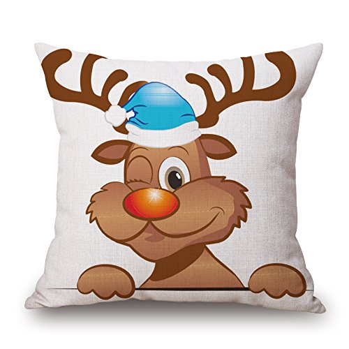 Alphadecor Christmas Pillowcover 20 X 20 Inches / 50 By 50 Cm Best Choice For Couples,home Office,birthday,car Seat,bf,wife With 2 Sides - Brandos Costumes Filme